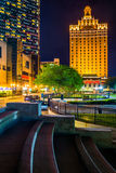 Bally's and The Claridge Hotel at night in Atlantic City, New Je Royalty Free Stock Photography