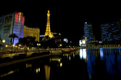 Bally's, Paris, Planet Hollywood and Cosmopolitan Casinos along the Las Vegas strip Stock Image