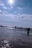 ballybunion热海浪 免版税库存图片