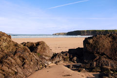Ballybunion beach 1. A scenic view of beautiful ballybunion beach in kerry ireland Royalty Free Stock Photos