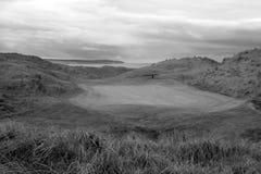 Ballybunion blanco y negro liga el campo de golf Imágenes de archivo libres de regalías
