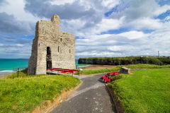 Ballybunion Castle and beach view.  Ballybunion Castle, Co. Kerry Ireland. Royalty Free Stock Photo