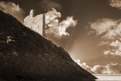 Ballybunion castle and the cliff face Royalty Free Stock Images