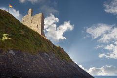 Ballybunion castle on the cliff face Royalty Free Stock Photography