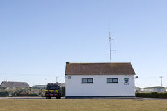 Ballybunion fire station with fire truck Stock Photos