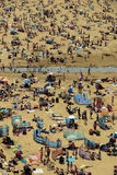 Ballybunion hot crowds. Ballybunion beach crowded with people on a hot day Stock Photography
