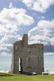 Ballybunion kasztel na dzikim atlantyckim sposobie Fotografia Stock