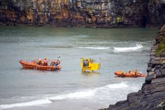 Ballybunion sea and cliff rescue service at cliffs Royalty Free Stock Image