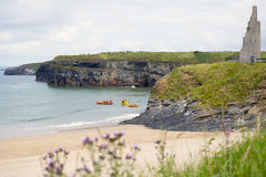 Ballybunion sea and cliff rescue service vehicles Royalty Free Stock Photography