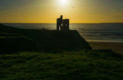 Ballybunion sunset Royalty Free Stock Image