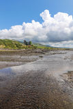 Ballycarbery Castle with tidal creek Stock Image
