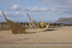 Ballycastle Co Antrim som är nordlig - Irland Ram för klättring för barn` s Arkivfoton