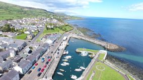 Ballycastle Harbour and Marina, Co. Antrim Northern Ireland. Ballycastle Harbour and Marina, Co. Antrim Coast Northern Ireland thrones stock photo