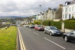 Ballycastle, Northern Ireland. Views of North Street downhill stock photos