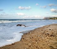 Ballycastle strand, Co Antrim Irland royaltyfri fotografi