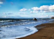 Ballycastle strand, Co Antrim Irland arkivbilder