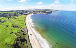 Ballycastle-Strand Co Antrim N irland Stockfoto