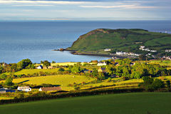 Ballygalley Head. Evening sun over Ballygalley Head, Co. Antrim, Northern Ireland royalty free stock image