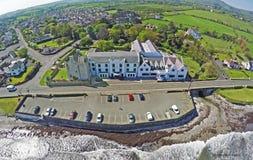 Ballygally Castle Ballygally beach, Co. Antrim. Northern Ireland royalty free stock photos