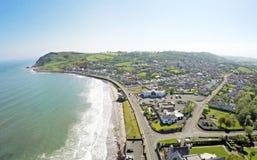 Ballygally Co Nordliga Antrim - Irland Arkivfoto