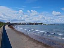 Ballyholme promenad i Bangor Royaltyfria Bilder