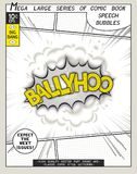 Ballyhoo. Explosion in comic style with lettering Stock Photography