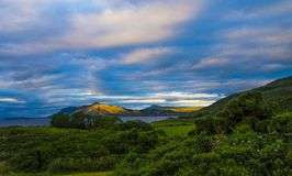 Ballymastocker Bay Donegal Eire. Ballymastocker Bay Co.Donegal Eire showing the skies and mountains Royalty Free Stock Photos