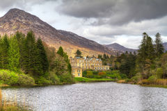 Ballynahinch castle in Connemara mountains. Ireland Royalty Free Stock Photography
