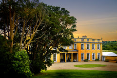 Ballynatray Estate Ireland. Private Ballynatray estate perfect luxury accommodation for wedding venue, corporate events, private dining, film location. Located Stock Photography
