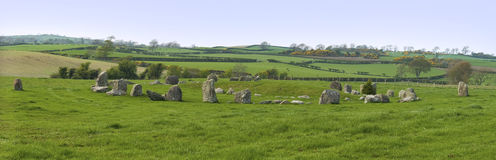 Ballynoe Stone Circle Royalty Free Stock Photography