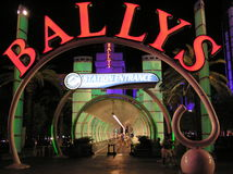 The Ballys Hotel and Casino in Las Vegas Nevada Royalty Free Stock Images