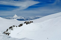 Balmenhorn. View of balmenhorn from vincent pyramid summit Stock Photography