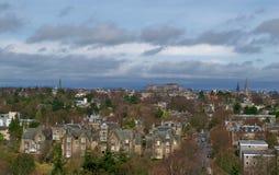 balmoral может рокировать холмы giles edinburgh dugald собора выйденные st увиденный правом горизонта pentland памятника stewart  Стоковое Фото