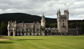 Balmoral. Castle in scotland, summer residence of the royals stock images