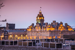 The Balmoral at the dusk light Royalty Free Stock Photo