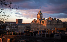 The Balmoral at the dusk light Stock Images