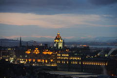 Balmoral Hotel, Edinburgh, Cotland, UK, at dusk Royalty Free Stock Photography