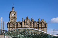 Balmoral hotel on a sunny day Royalty Free Stock Photo
