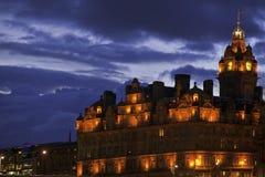 Balmoralhotel. Edinburgh, Schottland stockfotos