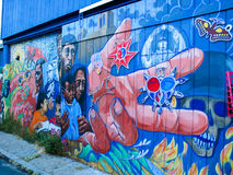 Balmy Alley murals in San Francisco Royalty Free Stock Photo