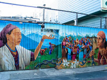 Balmy Alley murals in San Francisco Stock Image