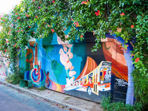 Balmy Alley murals in San Francisco Stock Images