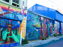 Balmy Alley murals in San Francisco Royalty Free Stock Photos
