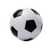 Balón de fútbol blanco y negro Foto de archivo libre de regalías