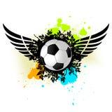 Balón de fútbol de Grunge Imagen de archivo