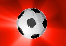 Balón de fútbol de la potencia Imagen de archivo libre de regalías