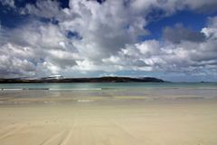 Balnakeil海滩,德内斯,西北苏格兰高地 免版税图库摄影