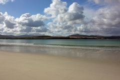 Balnakeil strand- och sanddyn, Durness, nordvästlig skotsk Skotska högländerna Arkivbilder