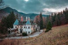 Balneario abandonado de la salud cerca del pueblo de Rajecke Teplice Imágenes de archivo libres de regalías