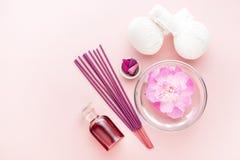 Balneario, aromatherapy y sistema del masaje Imagen de archivo